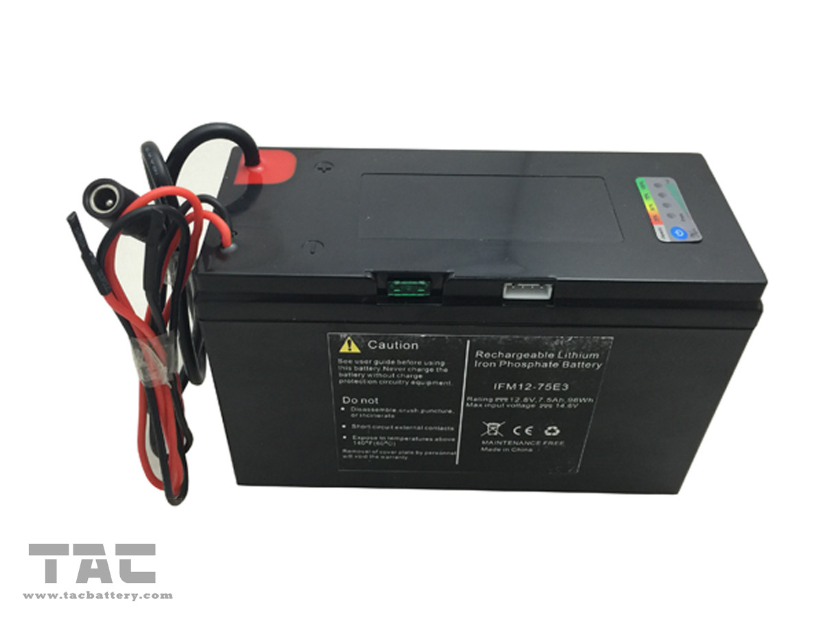 12V LiFePO4 Rechargeable Battery Pack  75ah Smart BMS with ABS Plastic Case